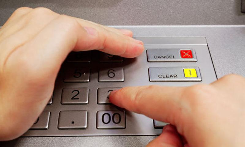 Панель ввода банкомата