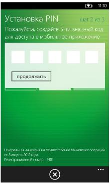 Установка PIN