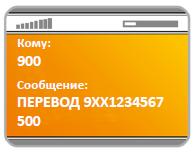 СМС с номером